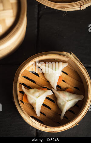 Dim Sum dumplings. Chinese traditional food - Stock Photo