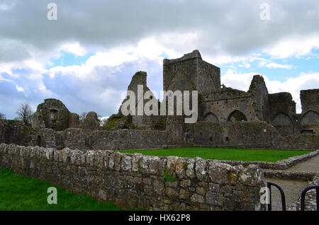 Old Benedictine abbey convereted to a Cistercian monastery in beside the Rock of Cashel. - Stock Photo