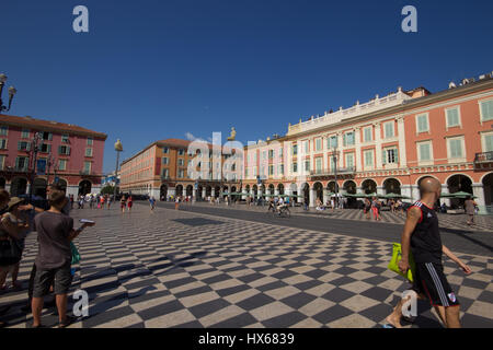 The main square in Nice, Cote d'Azur, Provence, france - Stock Photo