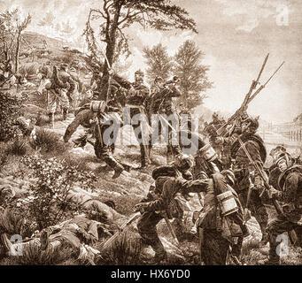 Battle of Spicheren or Battle of Forbach, 6 August 1870, Franco-Prussian War - Stock Photo