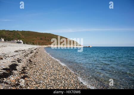 The beach at Laxey, Isle of Man, British Isles - Stock Photo