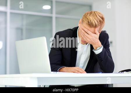 The concept stress crisis depression failure in business. Busine - Stock Photo