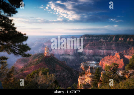 View of Mt. Hayden from Emperial Point. Grand Canyon National Park, Arizona - Stock Photo