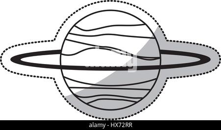 uranus planet solar system line - Stock Photo
