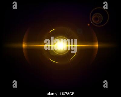 Space explosion, cosmos burst. Colored bang on deep dark background - Stock Photo
