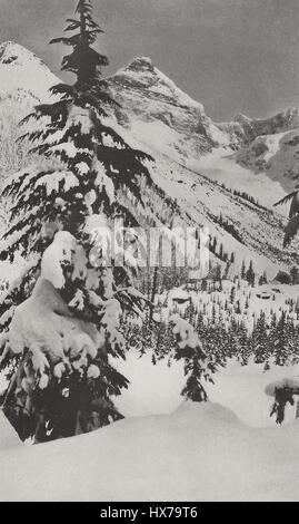 Mount Sir Donald, Glacier Park, British Columbia, Canada, circa 1916 - Stock Photo