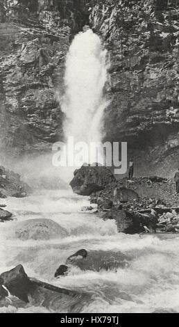 Laughing Falls, Yoho Park, British Columbia, Canada, circa 1916 - Stock Photo