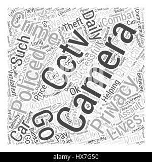 cctv cameras Word Cloud Concept - Stock Photo