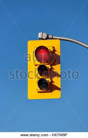 traffic lights, showing red, red, traffic signals, traffic lamps, signal lights, traffic control signals, the signal - Stock Photo