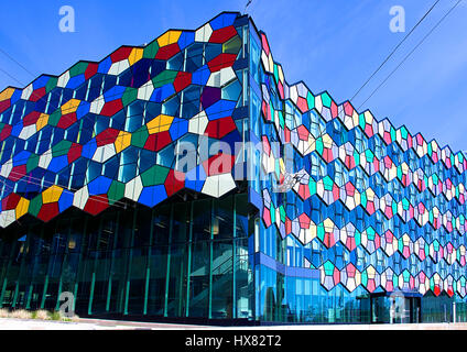 Smithfield One colorful facade,modern architecture of Stoke on Trent,Staffordshire,United Kingdom. - Stock Photo