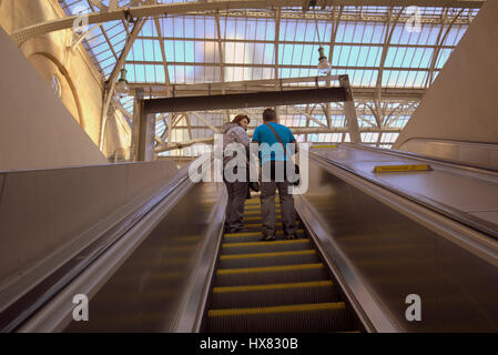 central station Glasgow interior - Stock Photo