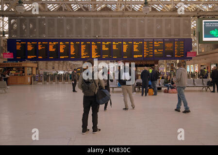 central station Glasgow interior - Stock Photo