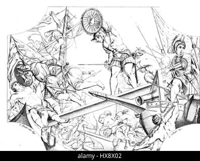 Vittoria sul lago di garda dell'Armata Veneziana contro i viscontei - Stock Photo