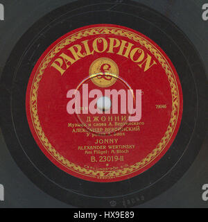 Vertinsky Parlophone B.23019 02 - Stock Photo