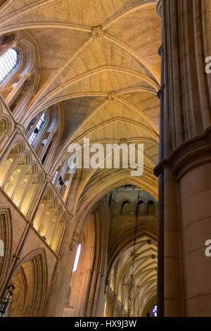 The interior of the medieval gothic Cathedral of Southwark, in London, also known as  'The Cathedral and Collegiate - Stock Photo