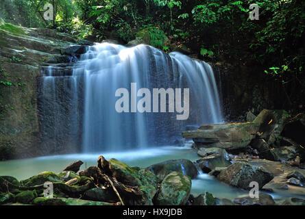 Waterfall in Kota Kinabalu, Sabah Borneo, Malaysia. - Stock Photo