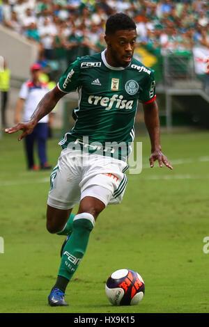 Sao Paulo, Brazil. 25th Mar, 2017. PALMEIRAS X OSASCO AUDAX - Michel Bastos during the match between Palmeiras x - Stock Photo