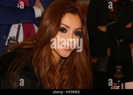 Paris, France. 25th March 2017. Nabilla Benattia in dedication session for his autobiography 'Too Fast' written - Stock Photo