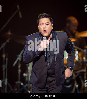 Las Vegas, NV, USA. 25th Mar, 2017. ***HOUSE COVERAGE*** Martin Nievera pictured performing at The Joint at Hard - Stock Photo
