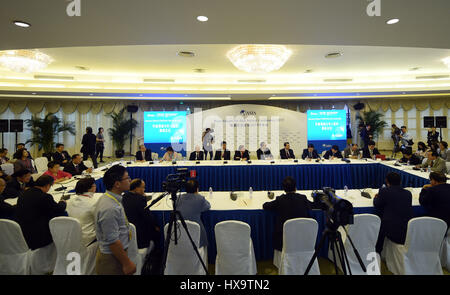 Boao, China's Hainan Province. 26th Mar, 2017. An Overseas Chinese CEO/Think Tank Roundtable meeting is held during - Stock Photo