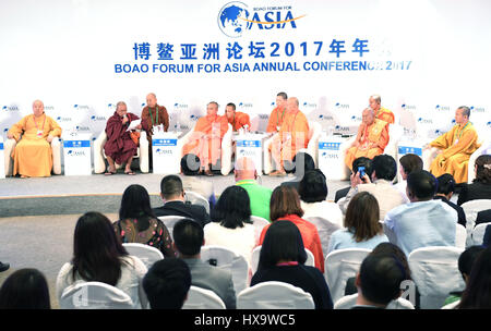 Boao, China's Hainan Province. 26th Mar, 2017. A dialogue with religious leaders is held during the Boao Forum for - Stock Photo