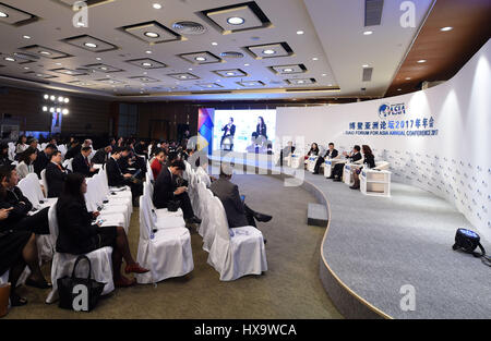Boao, China's Hainan Province. 26th Mar, 2017. The session of 'The Character of A City' is held during the Boao - Stock Photo