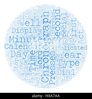 Chronograph Watches text background wordcloud concept - Stock Photo