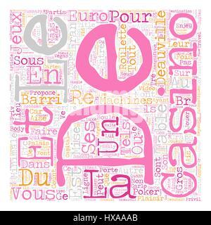 Deauville LaMagnifique text background wordcloud concept - Stock Photo