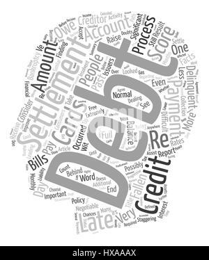 Debt Settlement Facts text background wordcloud concept - Stock Photo