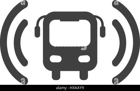bus wi-fi vector icon - Stock Photo
