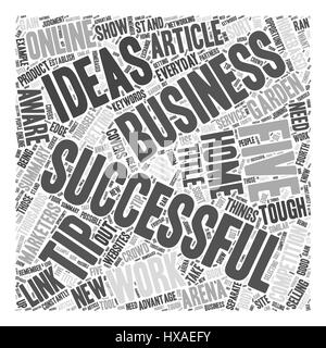 Five Tips For Successful Work At Home Business Ideas Word Cloud Concept Stock Photo