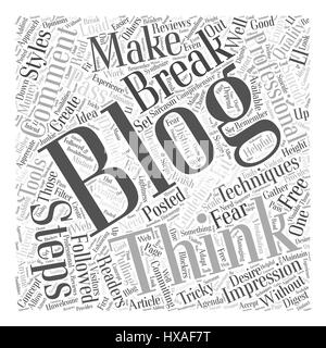 free blogging Word Cloud Concept - Stock Photo