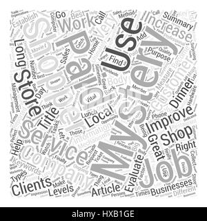 Great Job As Mystery Shopper Word Cloud Concept - Stock Photo