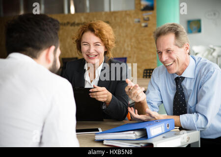 Job interview in office - Stock Photo