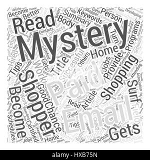 How to Become a Successful Mystery Shopper Word Cloud Concept - Stock Photo