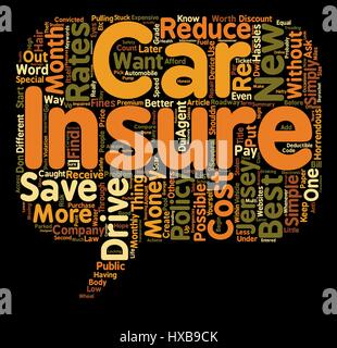 How To Get The Best Rates On Car Insurance In New Jersey text background wordcloud concept - Stock Photo