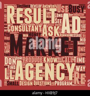 How To Identify Good Ad Agencies text background wordcloud concept - Stock Photo