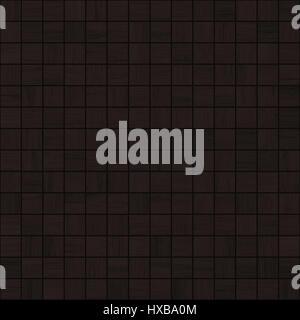 black wood mosaic tile seamless texture - Stock Photo
