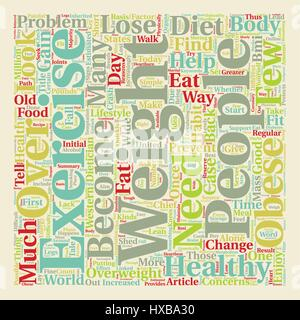 How To Lose Weight The Healthy Way text background wordcloud concept - Stock Photo