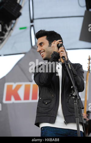 A Great Big World performs onstage during 102.7 KIIS FM's 2014 Wango Tango at StubHub Center on May 10, 2014 in - Stock Photo