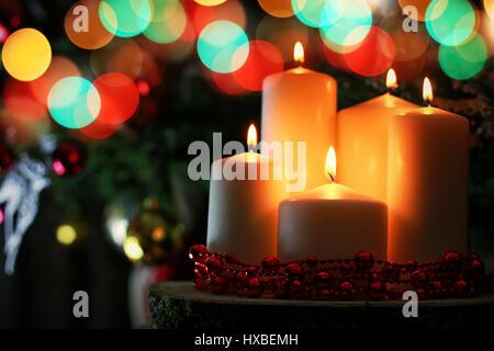 candle decor bokeh ball - Stock Photo