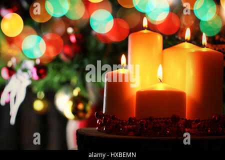 candle decor bokeh ball - Stock Photo