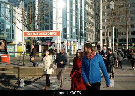 Barbarossaplatz in Köln (Cologne), Nordrhein-Westfalen, Deutschland - Stock Photo