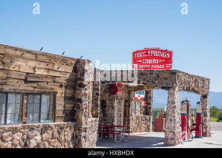 Cool Springs, Arizona is a one building place that has a cafe, museum, gift shop and old gas station. Generally - Stock Photo