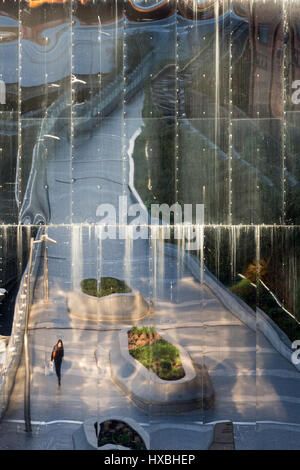 Reflections in New Street Station / Grand Central Shopping Centre Exterior, Birmingham, UK - Stock Photo