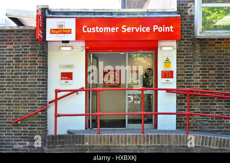 Royal Mail Customer Service Point with exterior wheelchair ramp disabled disability access Harlow Essex UK - Stock Photo