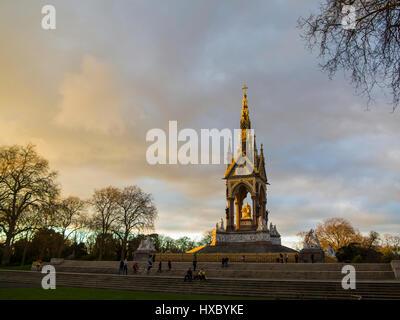 The Albert Memorial in Kensington Gardens - Stock Photo
