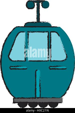cable car transport icon - Stock Photo