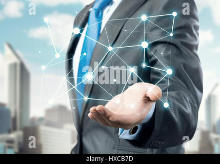 Presenting connection and interaction concept - Stock Photo