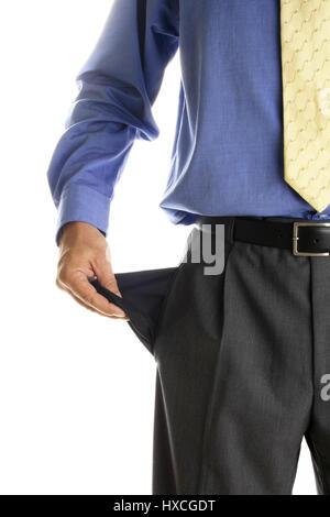 Bankruptcy (empty pockets), Pleite (Leere Taschen) - Stock Photo